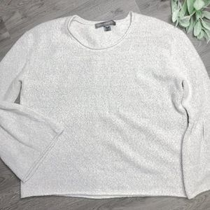 FRENCH CONNECTION   sz L gray flare sleeve sweater